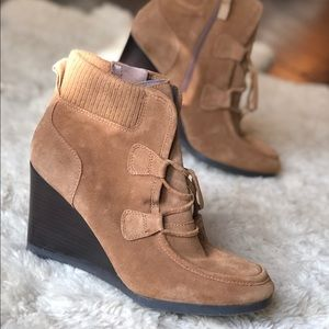 Franco Sarto Suede Leather Shoes Booties